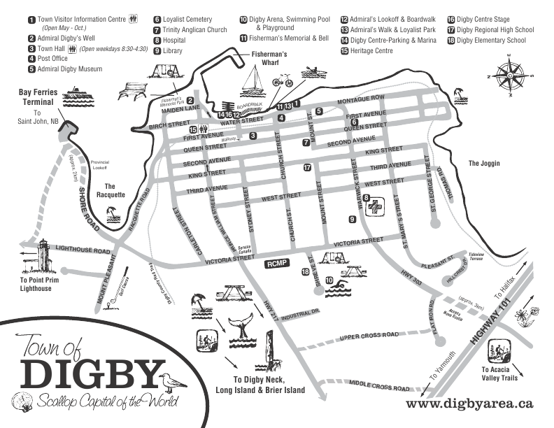 Map of Digby